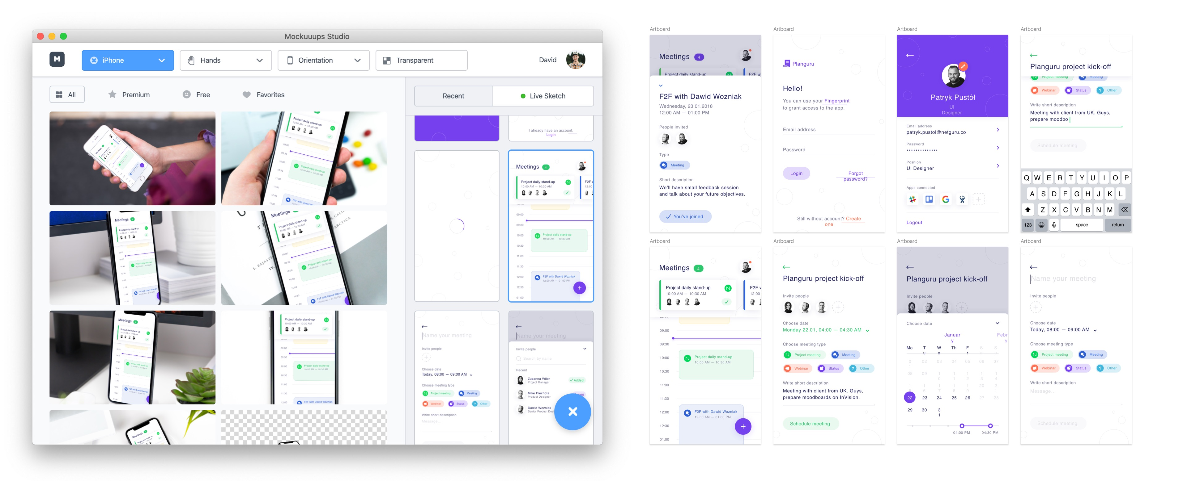 Device mockups for Sketch - Mockuuups Studio